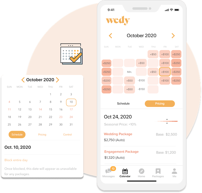 Dynamic Pricing and Scheduling Calender