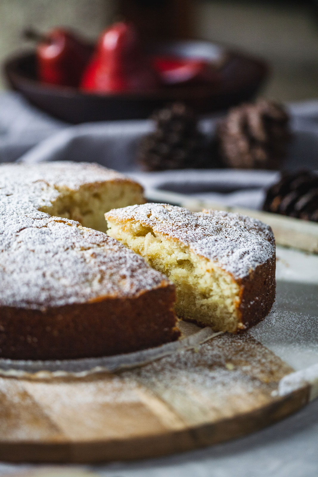 Cardamom Pear Ricotta Cake