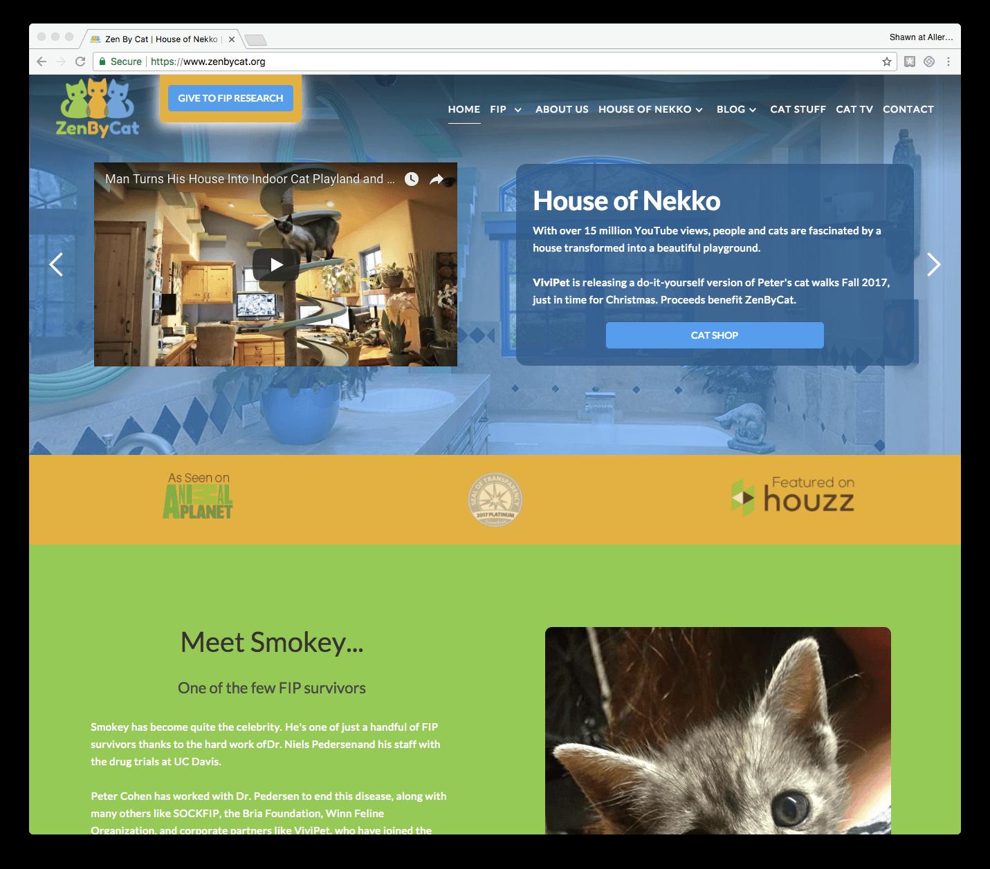 ZenbyCat website