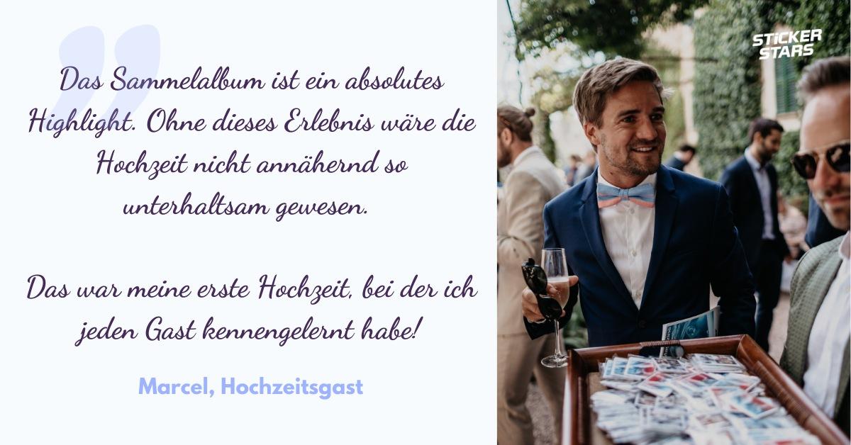 Zitat von Hochzeitsgast zum Hochzeits-Sammelalbum