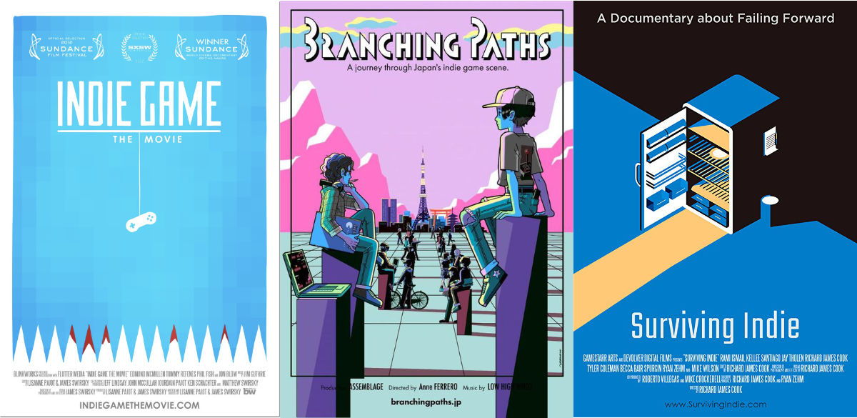 3 Indie Game Movie Posters