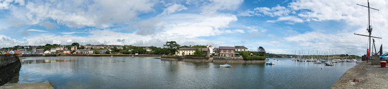 Panorama of Kinsale's harbor
