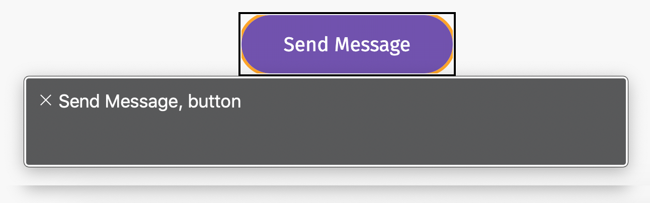 What the button is announced like in VoiceOver on Mac