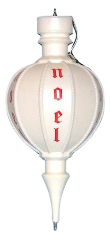 White Noel Ornament photo