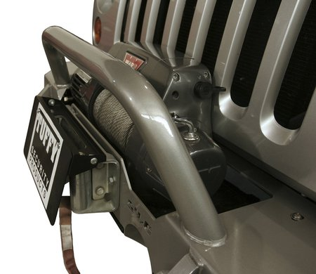 license plate mount for winch
