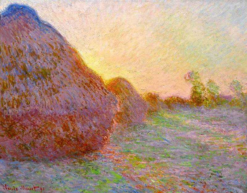 This version of Monet's Haystacks was recently sold by Sotheby's New York for $110 million.