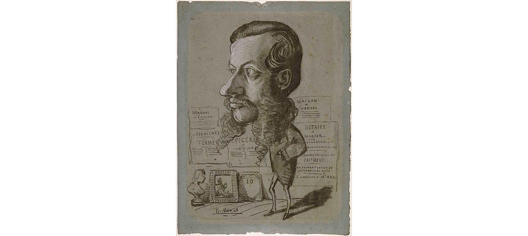 Одна из карикатур Клода Моне, 1858