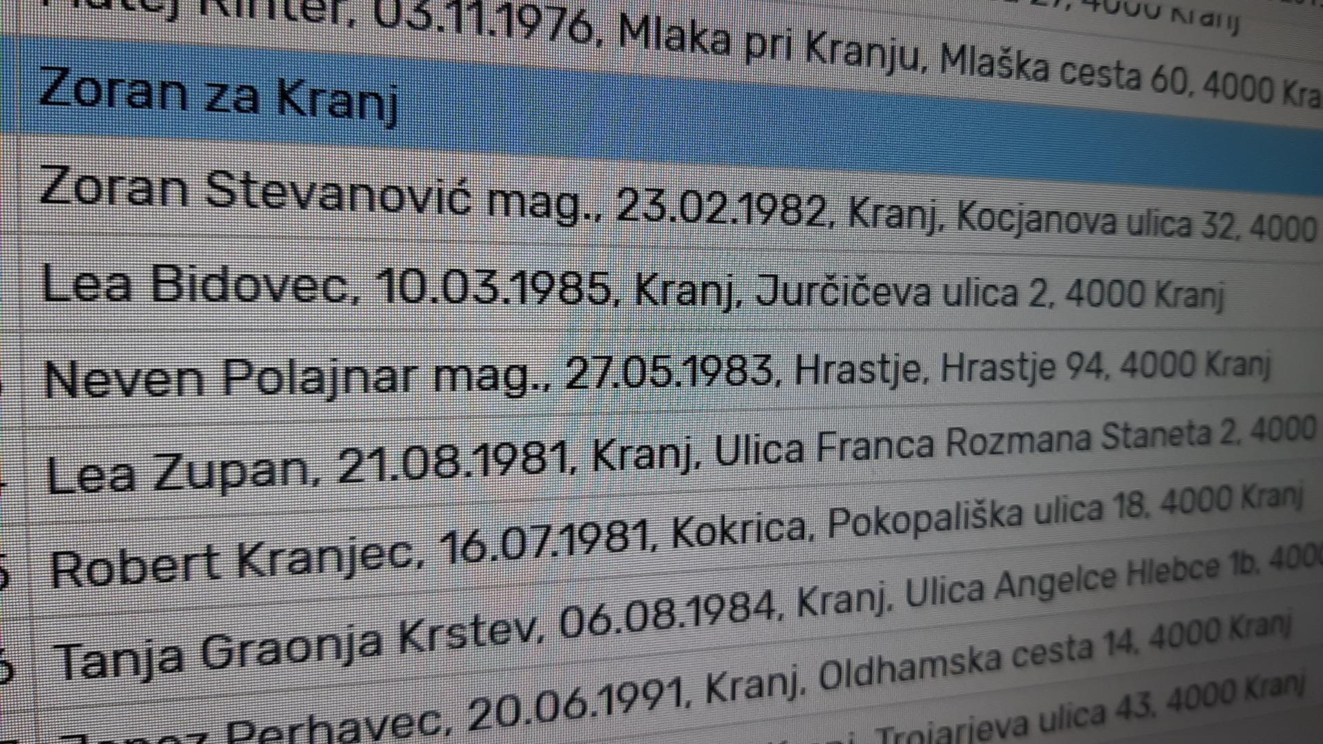 Corpus delicti št 1: ali podatki držijo ali pa so se spremenili!? Kdo zavaja in kdo se dela norca iz Kranjčank in Kranjčanov?