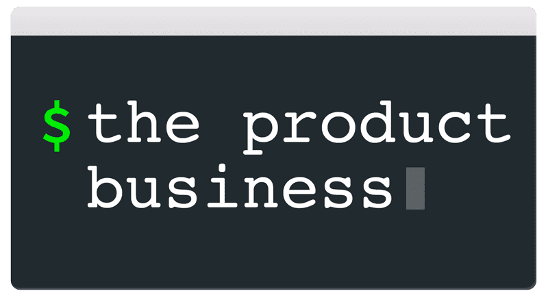 My New Site: The Product Business