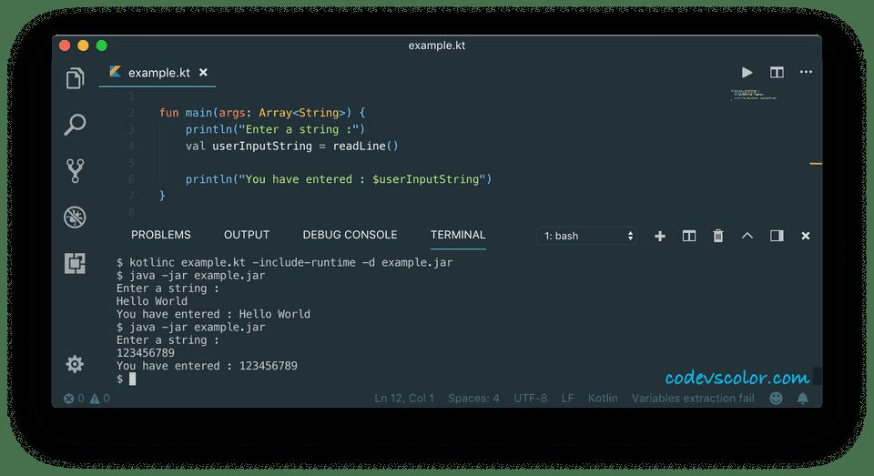 kotlin user input