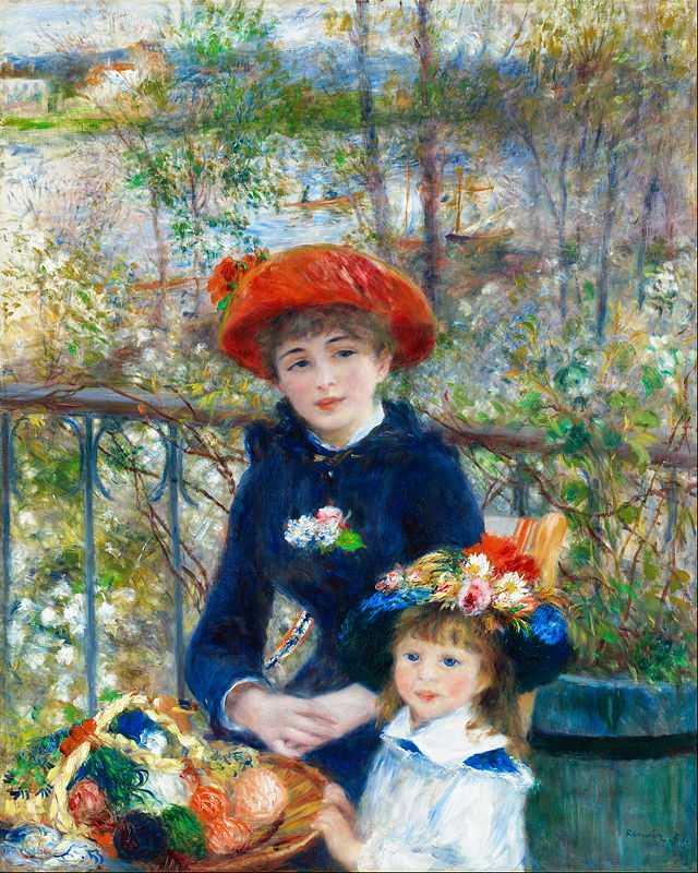 'Two sisters', by Pierre August Renoir in 1881