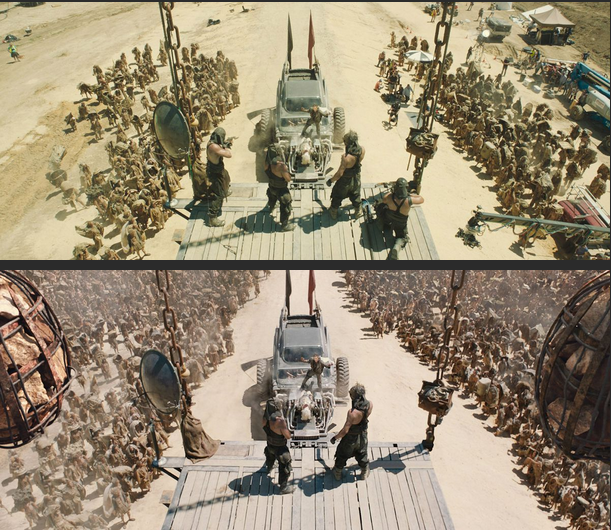Mad Max aerial shot