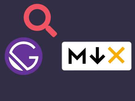 How to use elasticlunr plugin with MDX