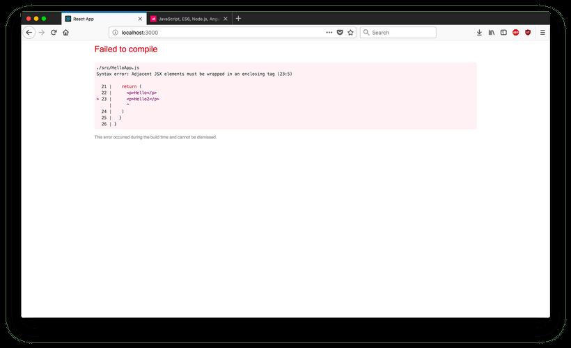 React Compile Error