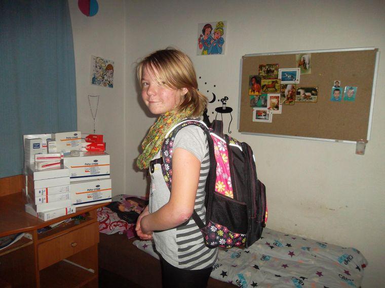 Poděkování za ošetřovací materiál a školní batoh