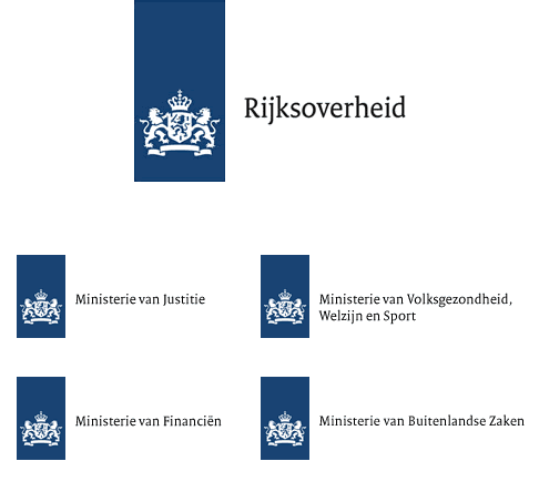 Logos for Dutch Government and Ministries