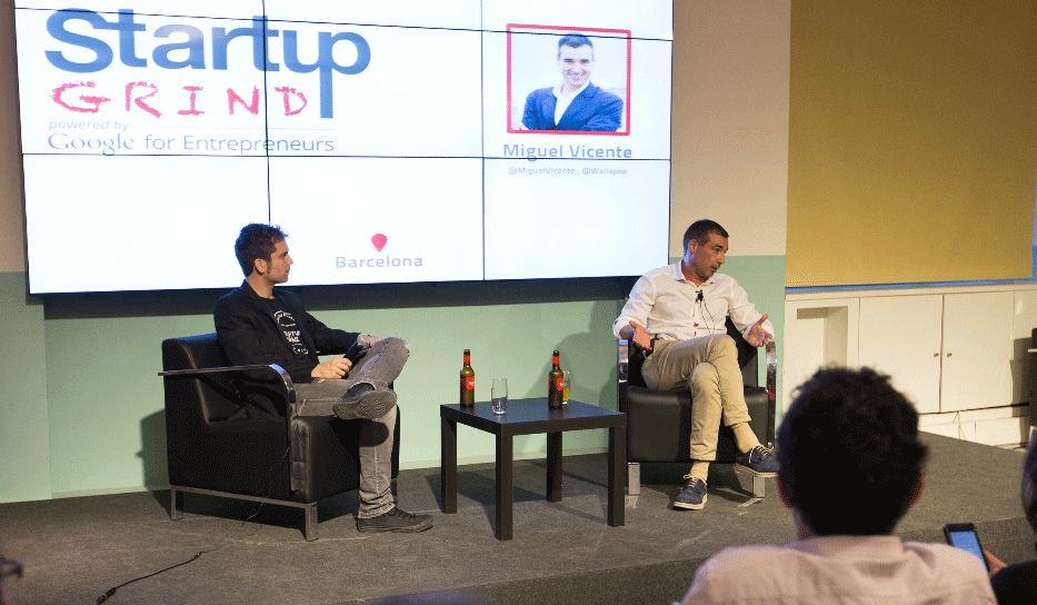 Startup Grind Barcelona First Anniversary Event fireside chat with Miguel Vicente