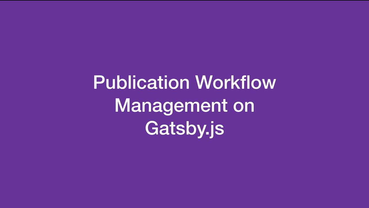 เรื่องเล่าในงาน Gatsby.js Developer Meetup 1.0
