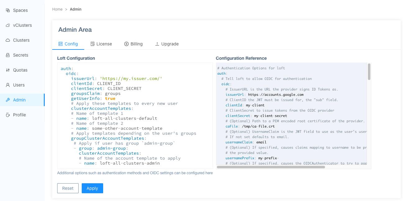 Configure Automatic Cluster Account Templates