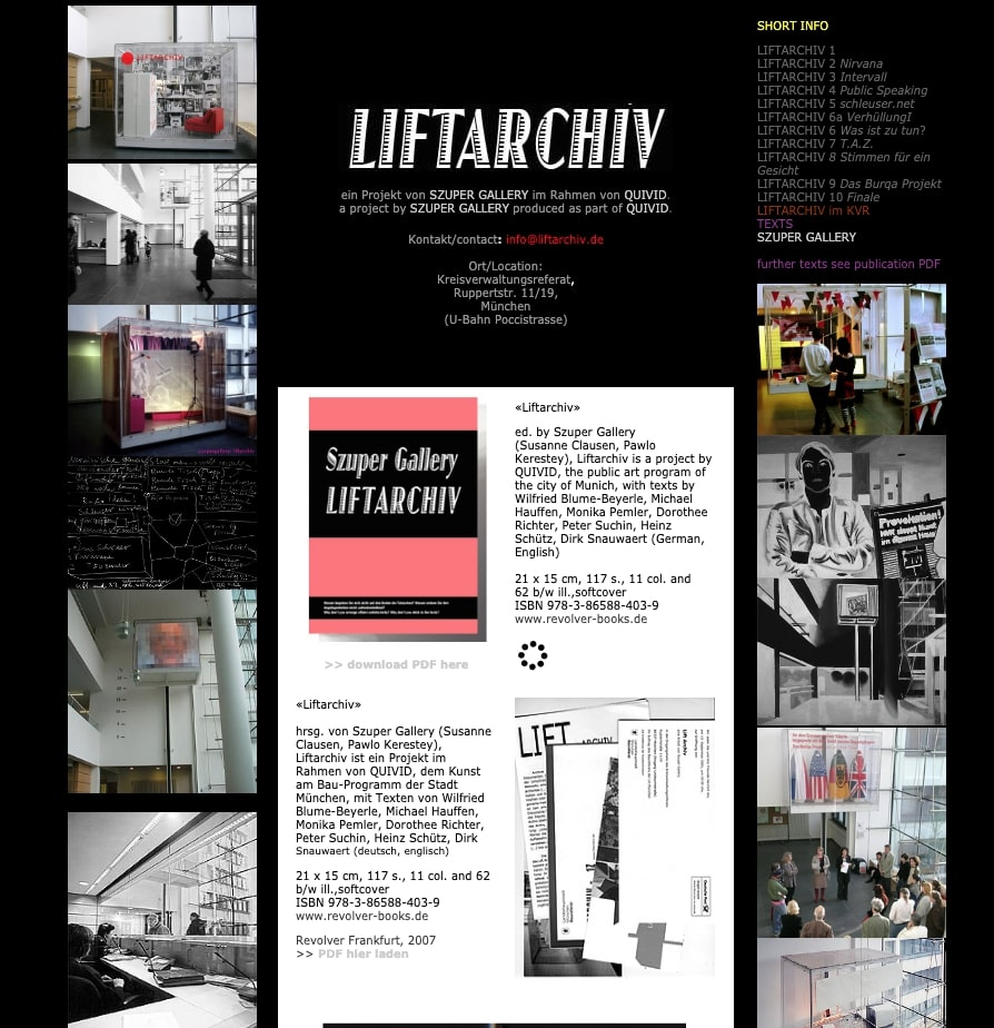 Liftarchiv Website
