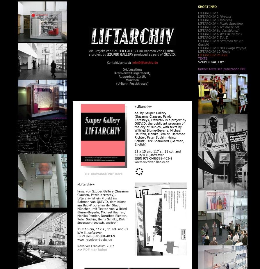 Liftarchiv Website