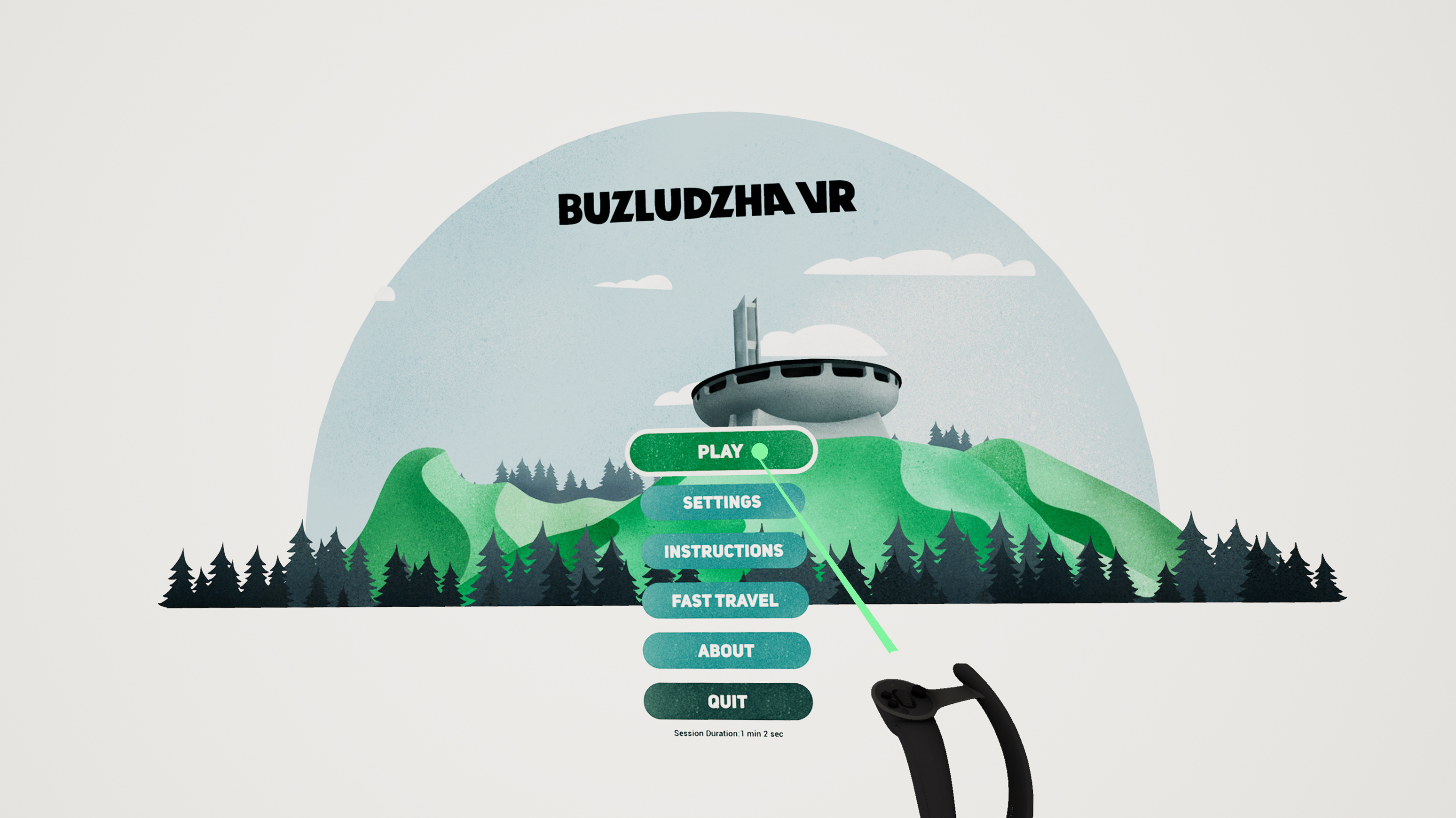 Buzludzha VR Exterior Front View