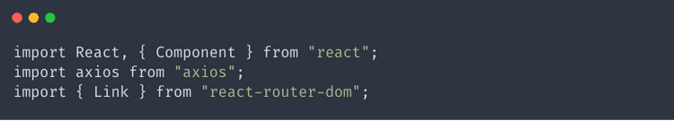 Add imports to our PostList.js file