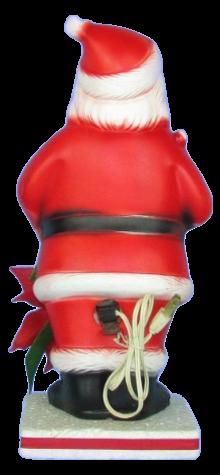 Santa With Red Poinsettia photo