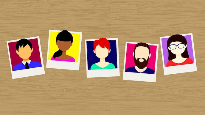 Illustrations of customers
