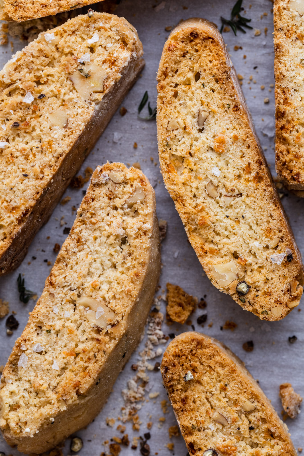 Savoury Parmesan and Herb Walnut Biscotti
