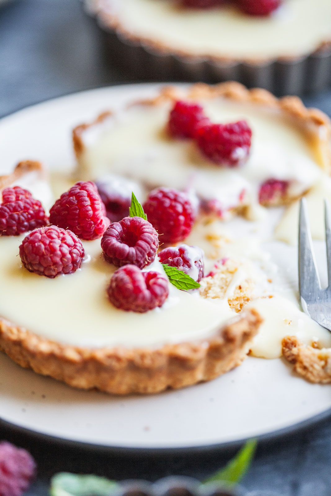 White Chocolate Raspberry Tart