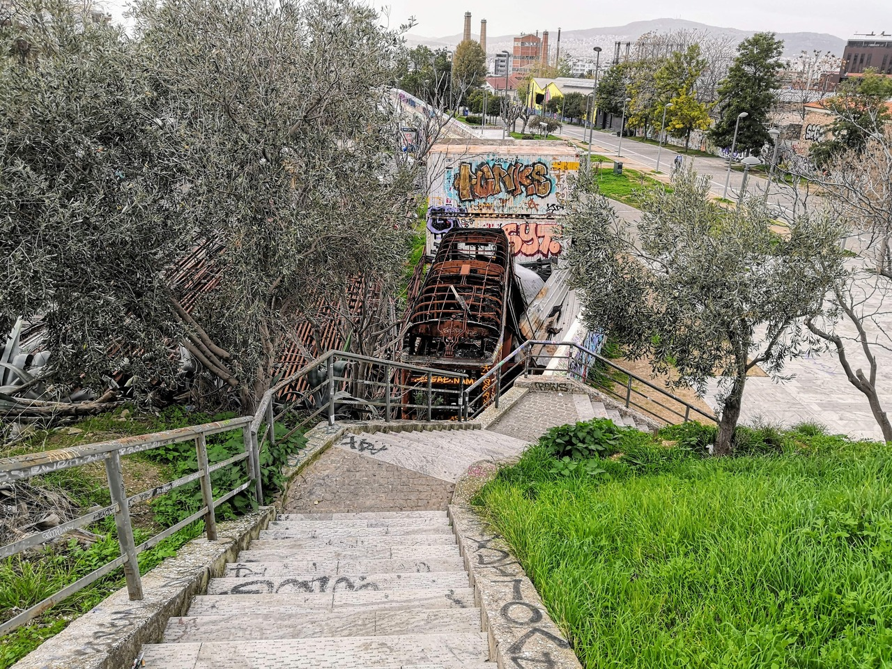 Small hill downward pathway