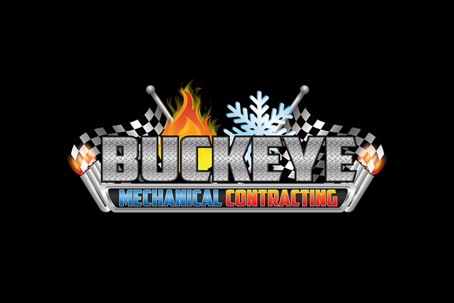 The official logo of Buckeye Mechanical of Calcutta, Ohio.