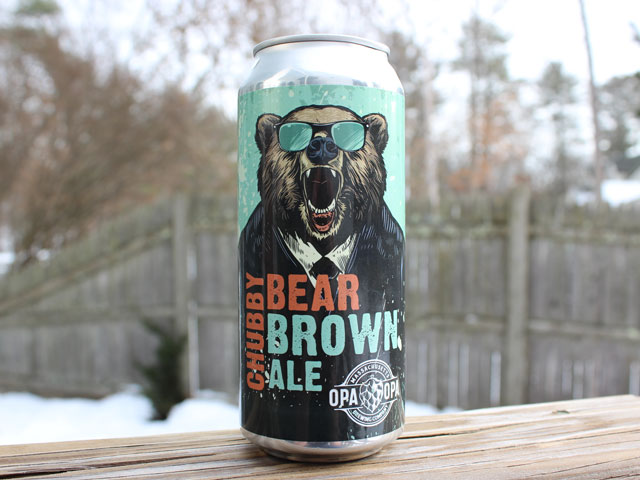 Chubby Bear, a Brown Ale brewed by Opa Opa Brewing Company