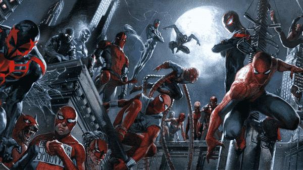homens aranha se reunem para o aranhaverso