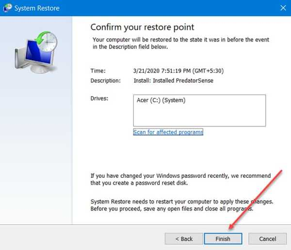 Fix Kernel Security Check failure using system restore