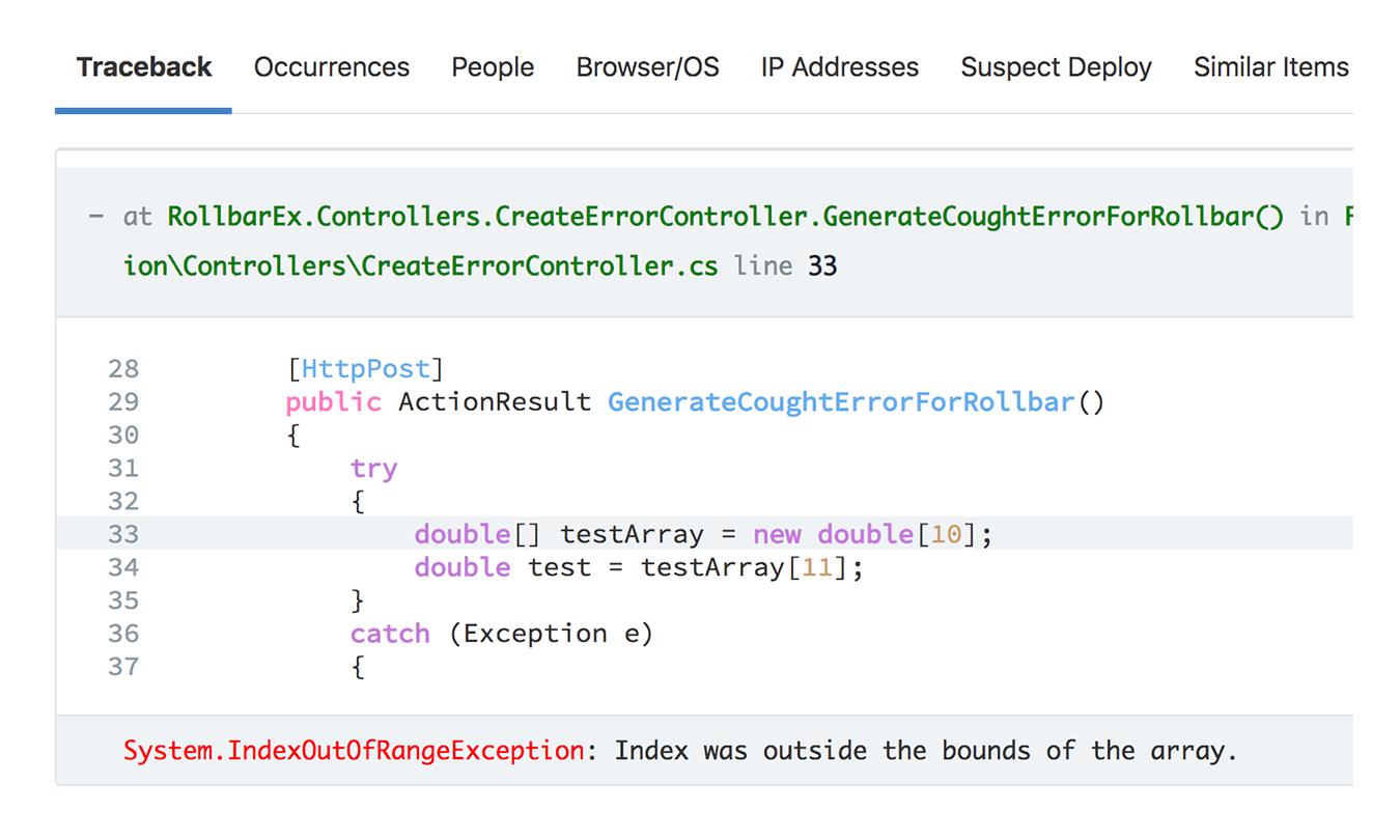 Error details & metadata