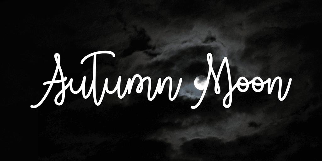 Fonte gratuita Autumn Moon