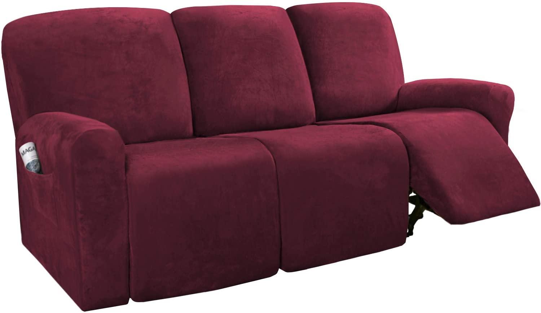H.VERSAILTEX 8-Pieces Recliner Sofa Covers
