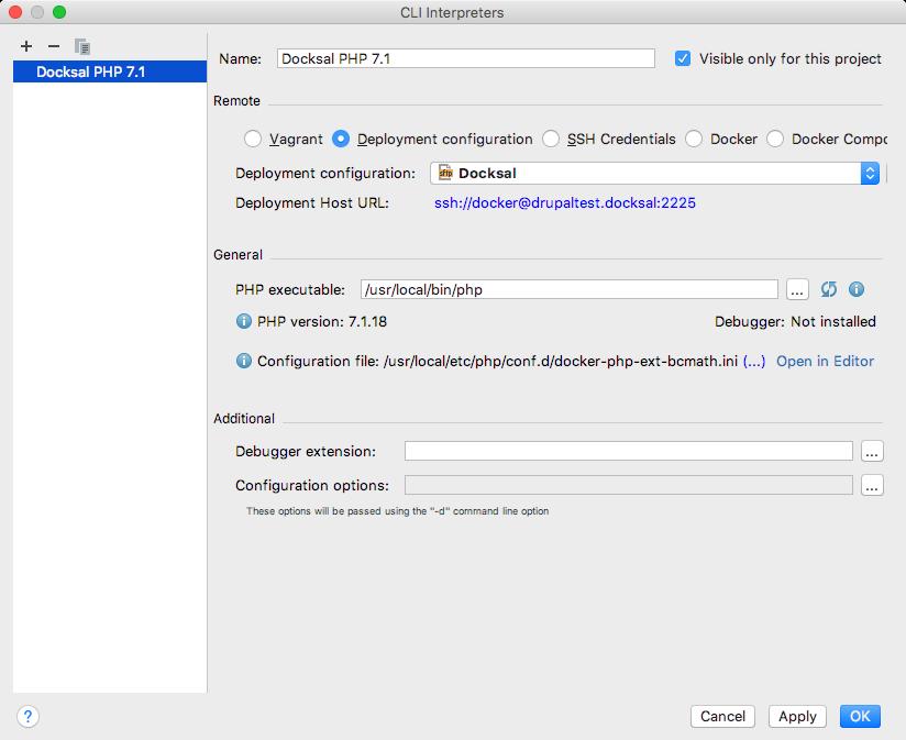 Configuring a new CLI interpreter