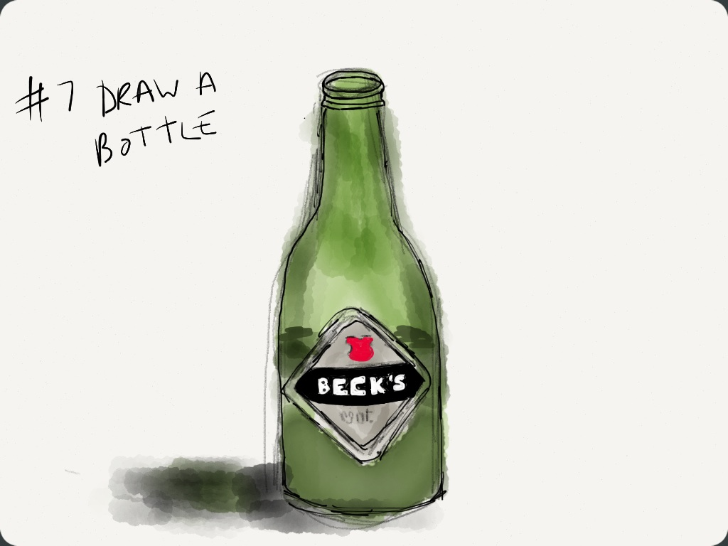 EDM #7 Draw a bottle, jar or tin from the kitchen