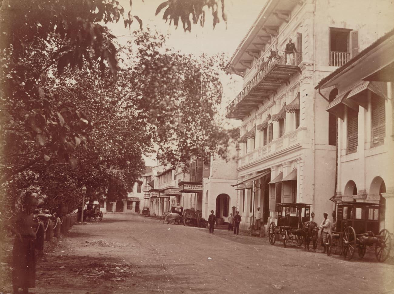 Raffles Place, 1880s