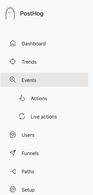 nested actions within events