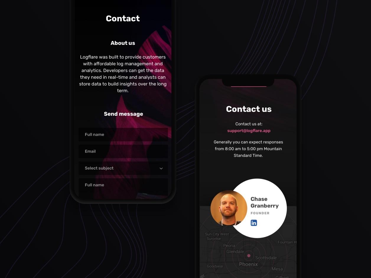 Mobile Design - UX Design | Logflare