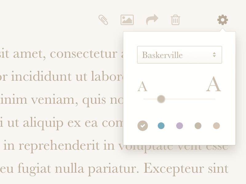 Writing app settings