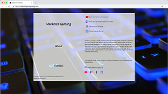 Web Site for Marko93 Gaming