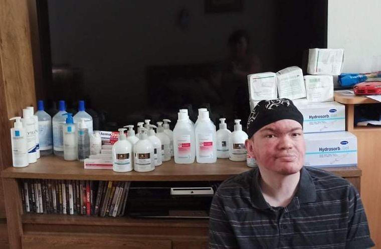 Dezinfekce a ošetřovací materiál pro Toma