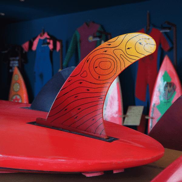 eco surf fin orange
