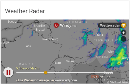 Windy weather radar as iframe
