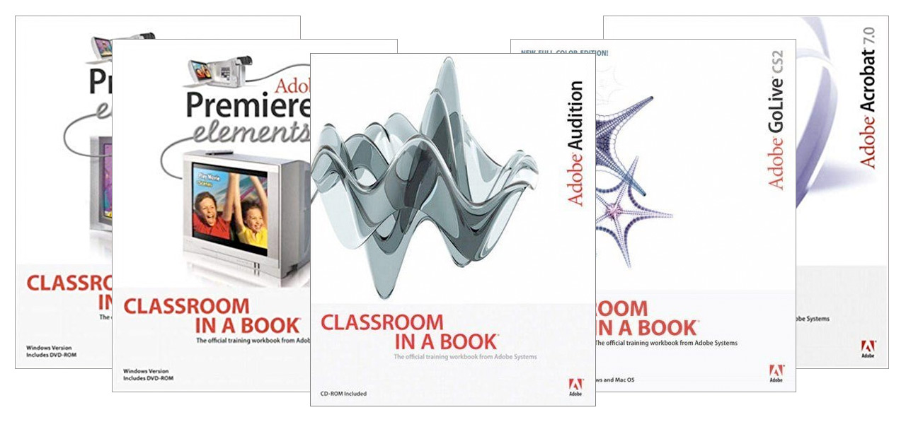 Adobe Classroom in an a Book covers